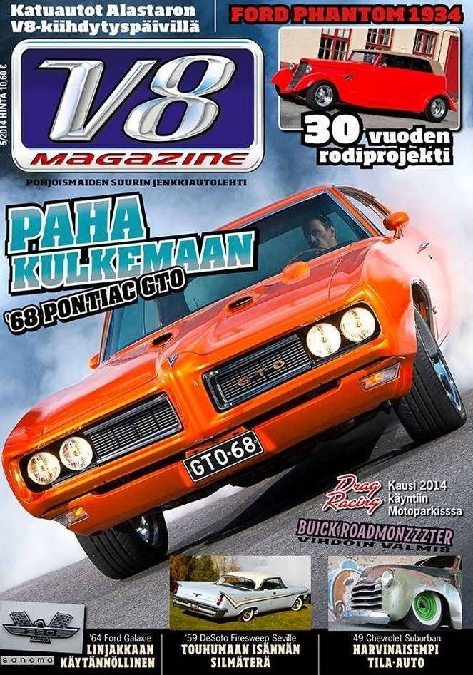 v8 magazine tarjous